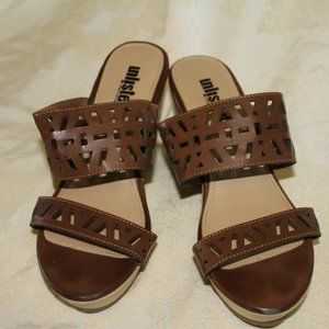 Wedge Brown Unlisted Sandals Kenneth Cole Sz 7 1/2